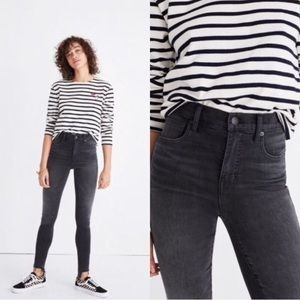 Madewell Skinny Skinny High Riser Black Jeans 27